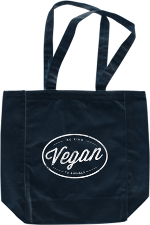 Vegan Circle Tote - Grape Cat