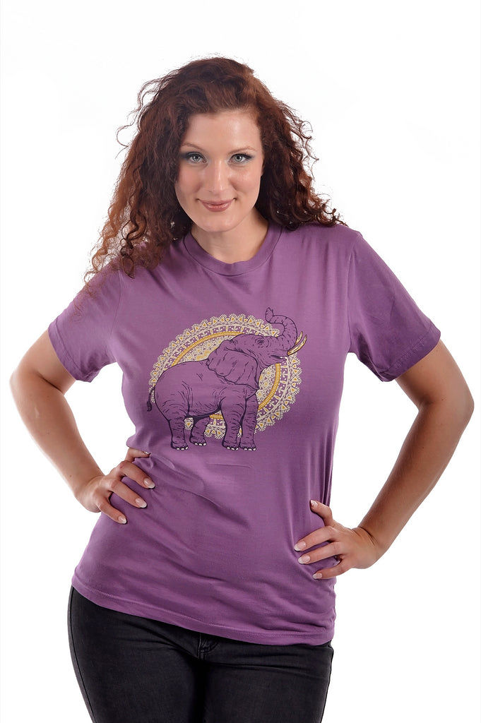 African Elephant T-Shirt, T-Shirt, Grape Cat - Vegan Grape Cat