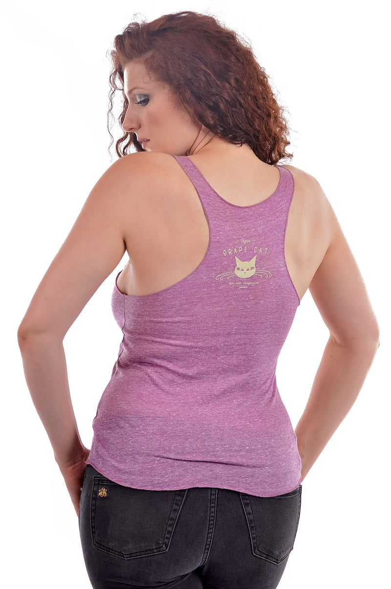 African Elephant Tank Top by Grape Cat Vegan Clothing Brand