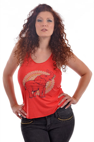 African Elephant Tank Top - Grape Cat