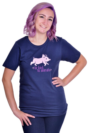 Be Kind to Animals T-Shirt - Grape Cat