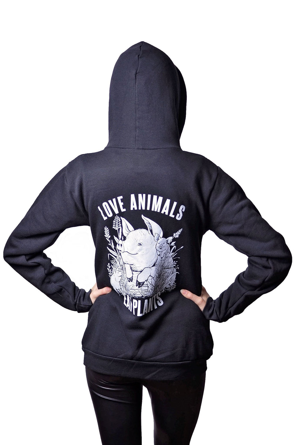 Love Animals RPET Hoodie - Grape Cat
