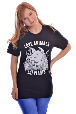 Love Animals T-Shirt - Grape Cat
