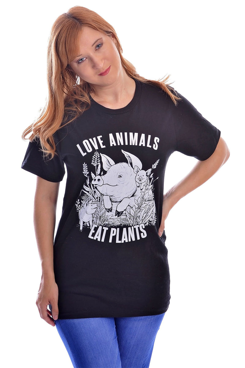 Love Animals T-Shirt - Grape Cat Vegan Clothing Brand