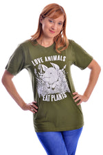 Love Animals T-Shirt by Grape Cat Vegan Clothing Brand
