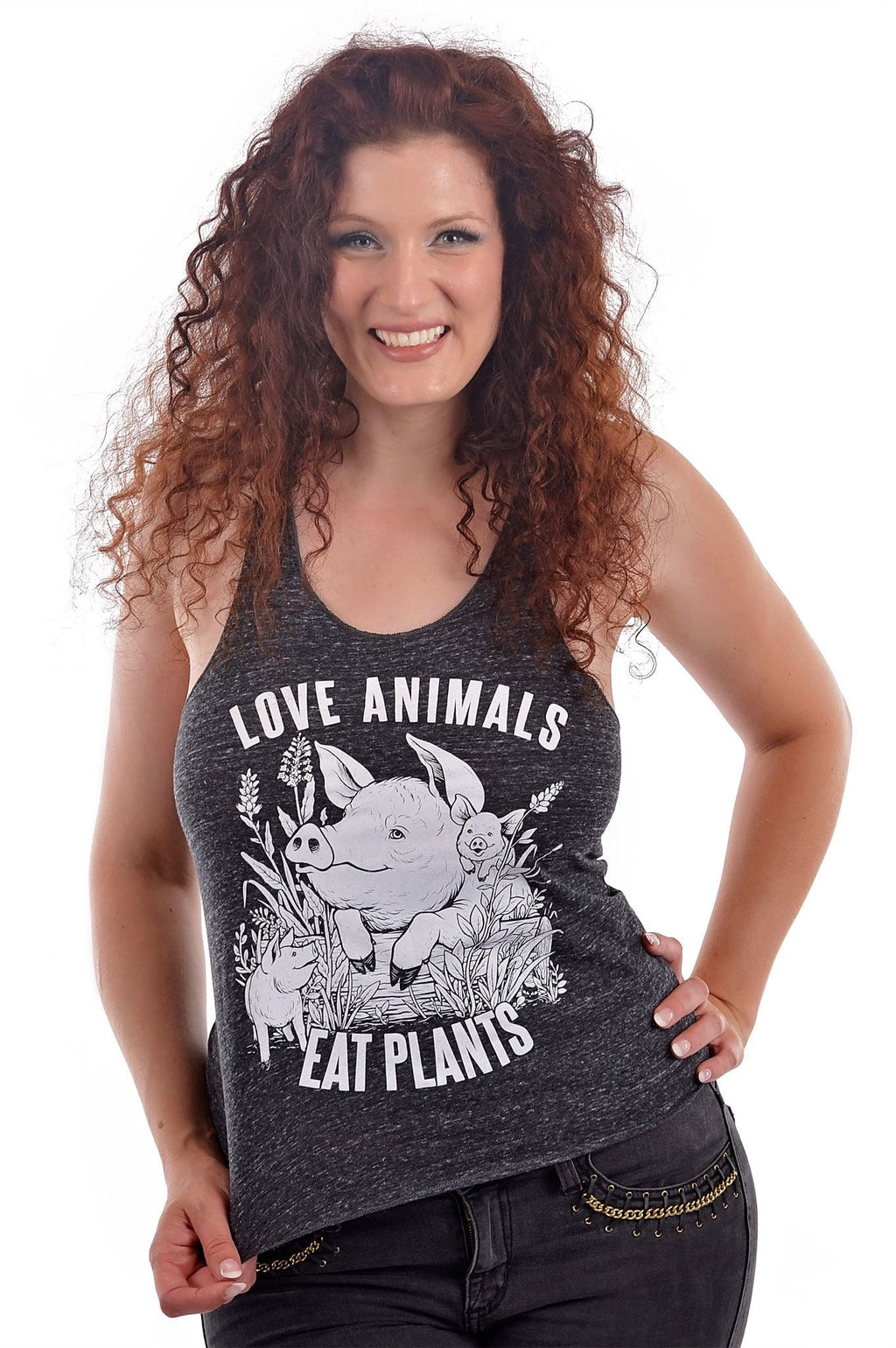 Love Animals Tank Top - Grape Cat