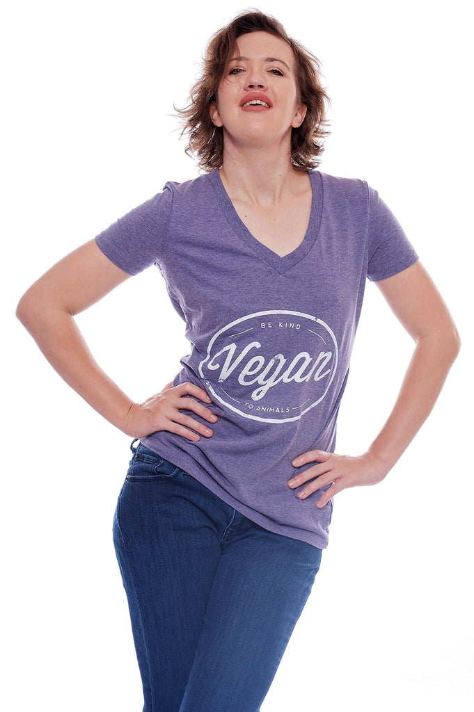 Vegan Circle V-Neck