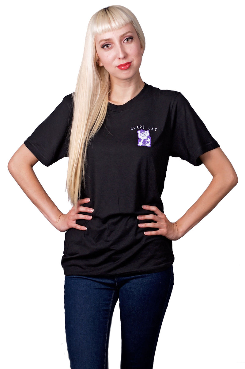 Grape Cat Logo T-Shirt - Grape Cat Vegan Clothing Brand