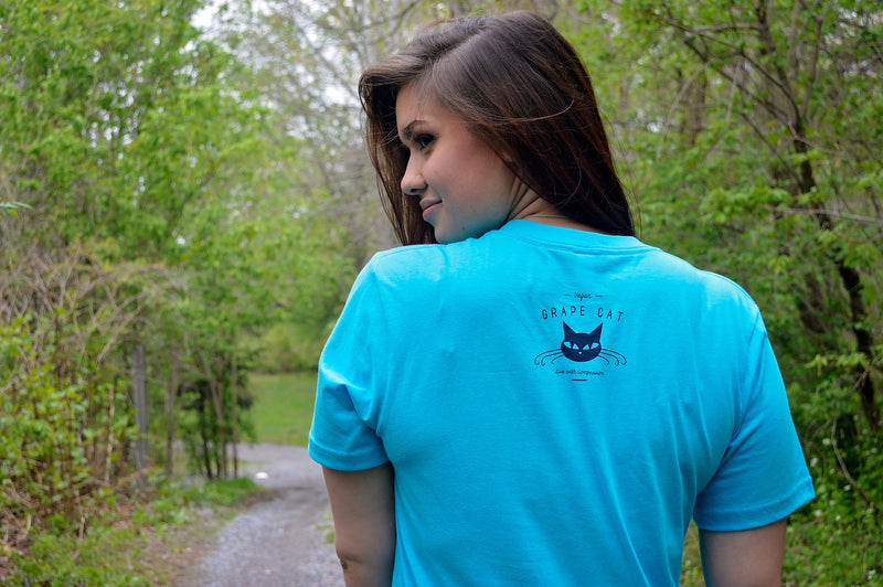 No fish goes anywhere without a porpoise by Grape Cat Vegan Clothing Brand