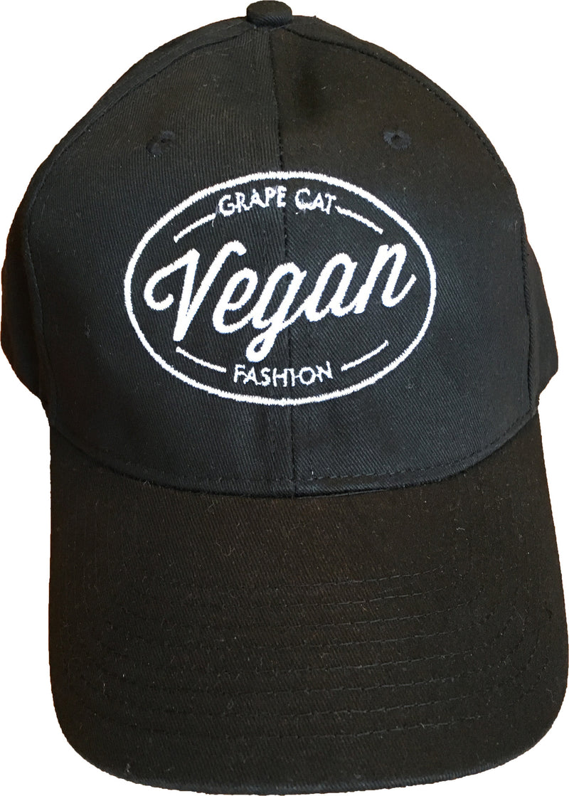 Vegan Baseball Caps - Grape Cat Vegan Clothing Brand