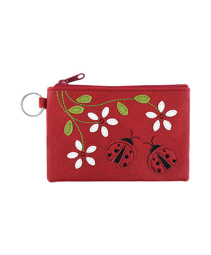 Lady Bug Coin Purse - Grape Cat