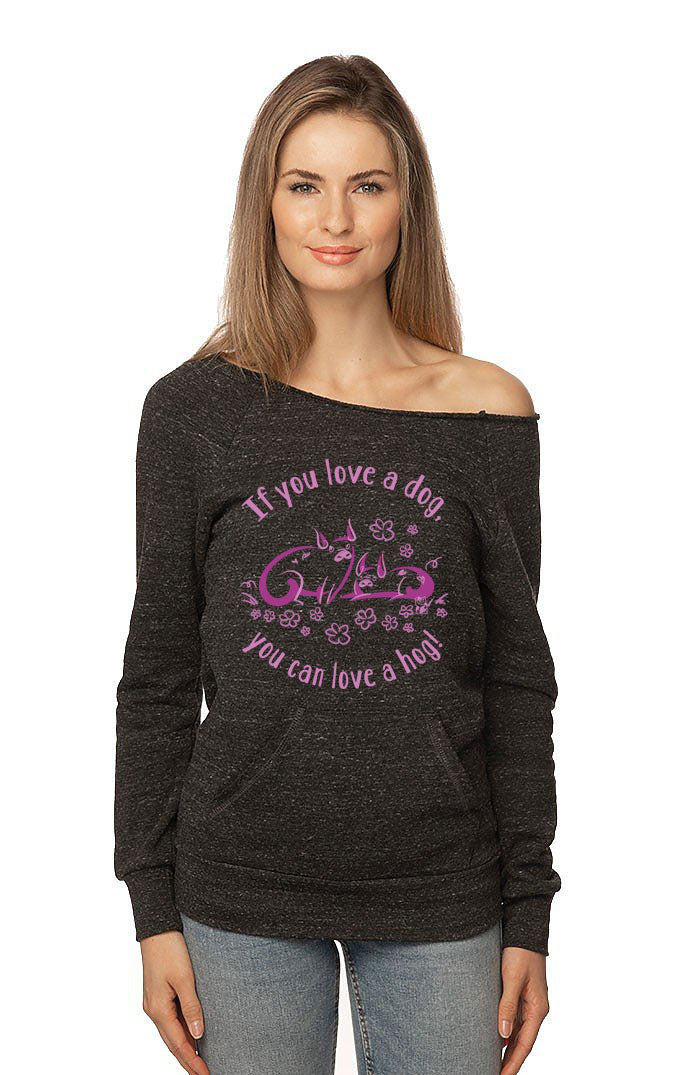 Love a Hog Raglan by Grape Cat Vegan Clothing Brand