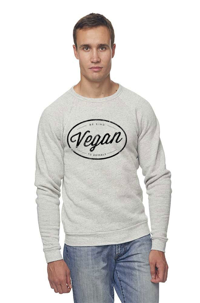 Vegan Circle Unisex Raglan by Grape Cat Vegan Clothing Brand