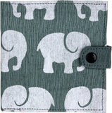 Elephant Recycled Cotton Wallet - Grape Cat - 2