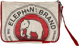 Elephant Wristlet by Grape Cat Vegan Clothing Brand
