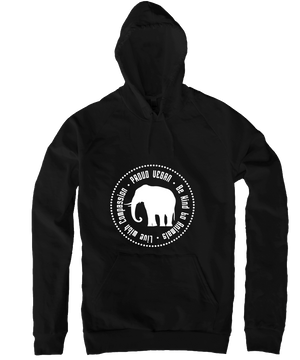 Proud Vegan Hoodie in Black, Hoodie, Grape Cat - Vegan Grape Cat