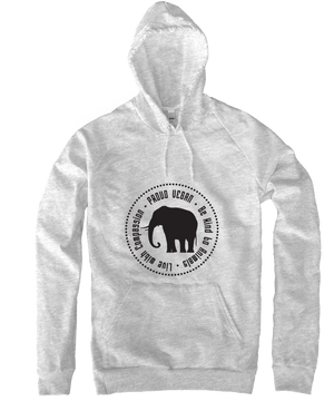 Proud Vegan Hoodie in Heather Grey by Grape Cat Vegan Clothing Brand