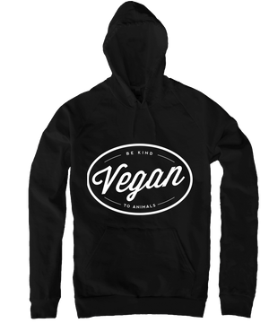 Vegan Hoodie in Black, Hoodie, Grape Cat - Vegan Grape Cat