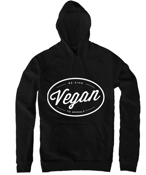 Vegan Hoodie in Black by Grape Cat Vegan Clothing Brand