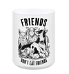 Friends Don't eat Friends White Mug - Grape Cat
