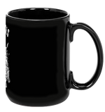 Love Animals Black Mug by Grape Cat Vegan Clothing Brand