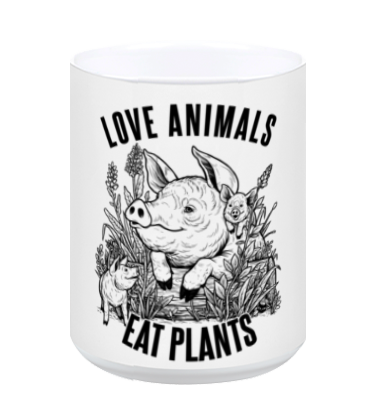 Love Animals White Mug - Grape Cat