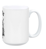 Love Animals White Mug by Grape Cat Vegan Clothing Brand