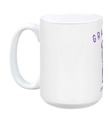 Grape Cat Coffee Mug by Grape Cat Vegan Clothing Brand