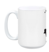 Vegan: Love, Peace, Compassion Coffee Mug in White by Grape Cat Vegan Clothing Brand