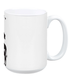 Vegan: Love, Peace, Compassion Coffee Mug in White - Grape Cat - 3