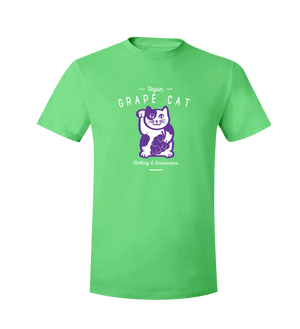 Grape Cat T-Shirt Black Logo - Grape Cat