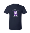 Grape Cat T-Shirt Silver by Grape Cat Vegan Clothing Brand