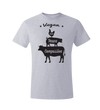 Vegan: Love, Peace, Compassion T-Shirt, T-Shirt, Grape Cat - Vegan Grape Cat