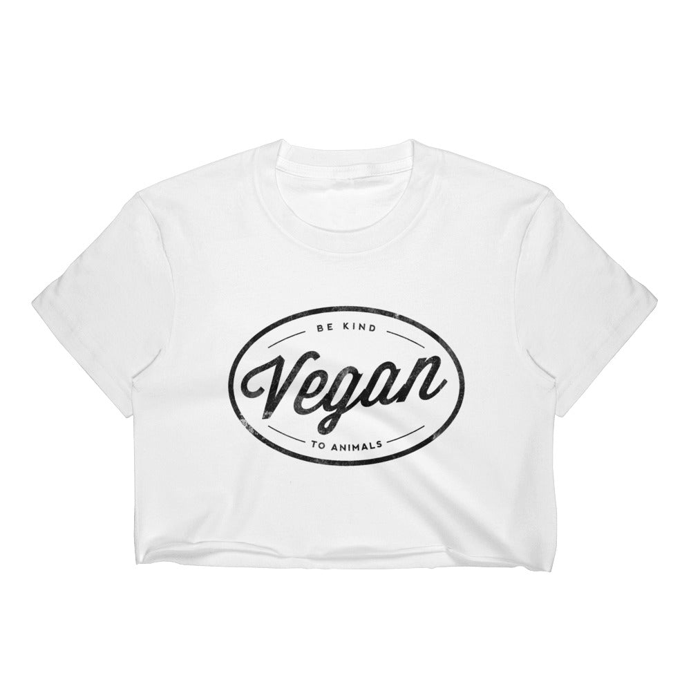 Vegan Women's Crop Top, T-Shirt, Grape Cat - Vegan Grape Cat