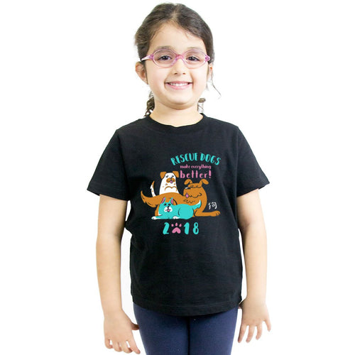 Year of the Dog Kids T-Shirt by Grape Cat Vegan Clothing Brand