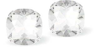 Byzantium Collection Swarovski Crystal Diamonte Crispy Clear Crystal Stud Earrings