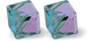 Byzantium Collection Swarovski Crystal Oblique Studs Vitrail Light Earings
