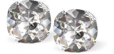 Byzantium Collection Swarovski Crystal Lyrical Studs Clear Crystal Earings