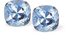 Byzantium Collection Swarovski Crystal Lyrical Studs Aquamarine Blue Earings