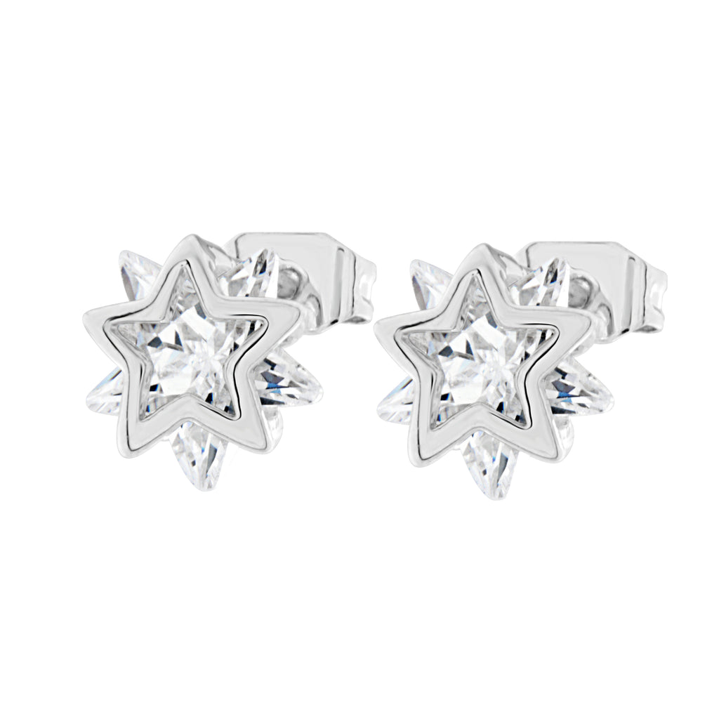 Byzantium Collection Crystal Star Stud Earrings