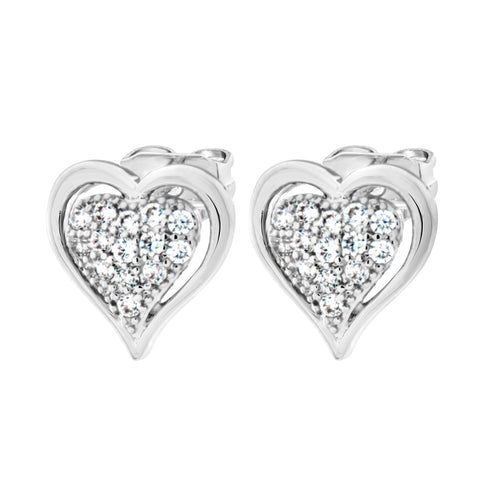 Byzantium Collection Crystal Heart Stud Earrings
