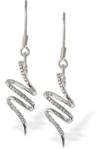 Byzantium Collection Pave Ribbon Dance Drop Earrings Earrings