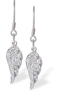 Byzantium Collection Crystal Wing Drop Earrings Earrings