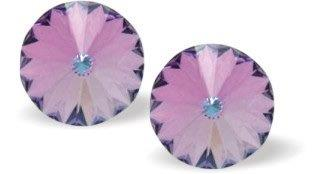 Byzantium Collection Swarovski Crystal Eclipse Studs Violet Earings