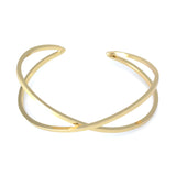 24ct Gold Plated Bangle Crossover Design Bracelet