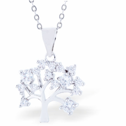 Crystal Encrusted Sparkling Tree of Life Necklace