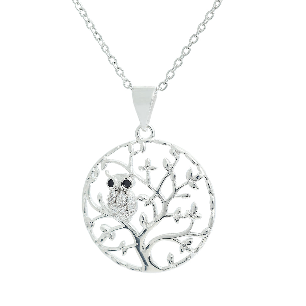 Classic Tree of Life with Owl on Branch