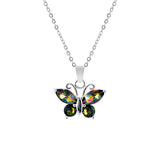 Crystal Vitrail Medium Butterfly Necklace
