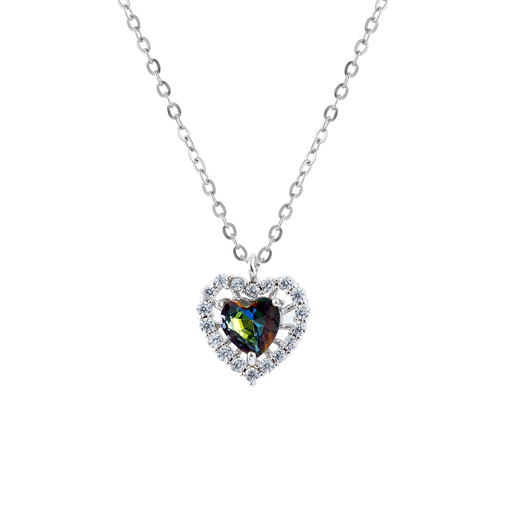 Vitrail Medium Framed Heart Necklace