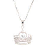 Crystal Encrusted Crown Dancing Stone Necklace